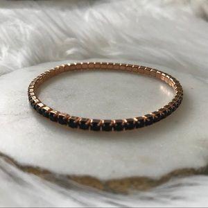 🆕 Rose Gold Swarovski Crystal Stretch Bracelet